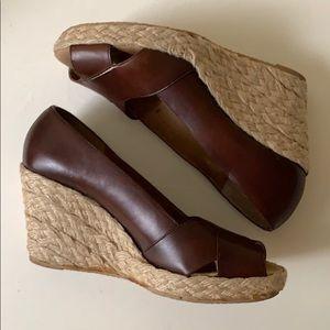 Michael Kors Shoes - Michael Kors Leather Wedges
